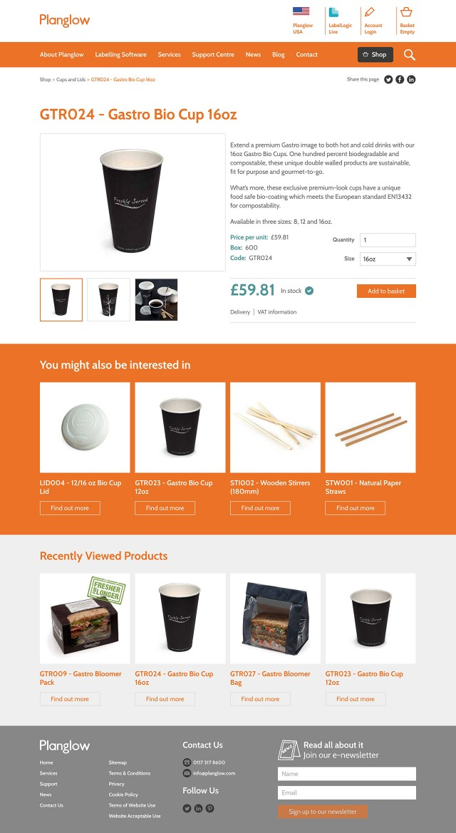 Ecommerce website development product page screenshot