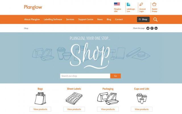 E-commerce site development home page screenshot