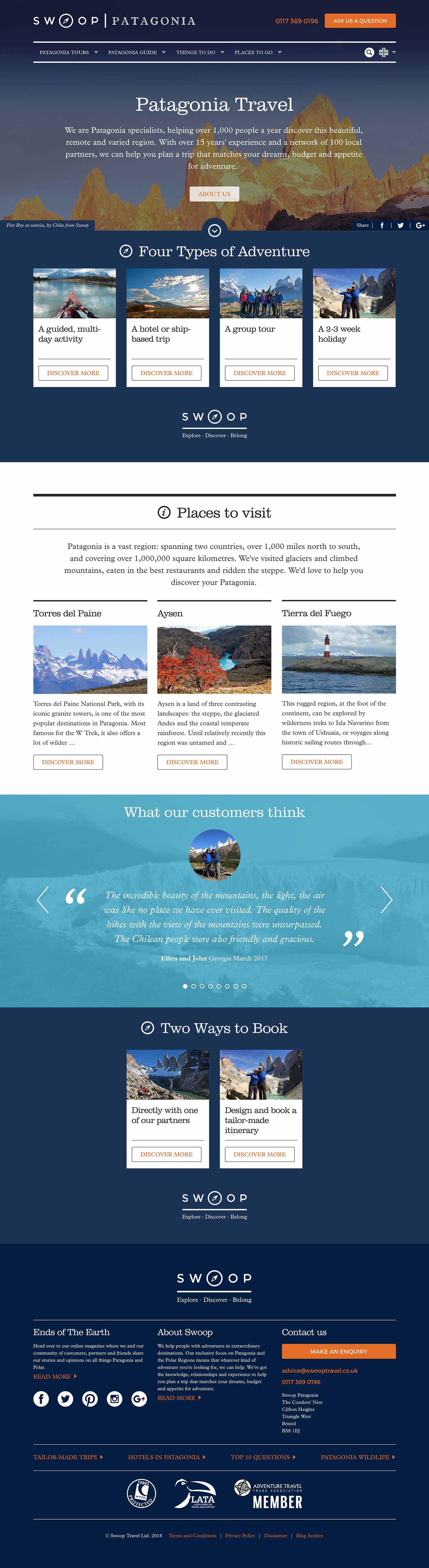 Ember web design work - Swoop Travel Custom CRM, ERP and website development