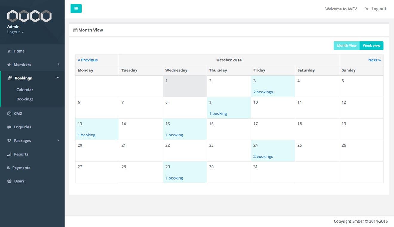 Ecommerce subscription payment Bristol app development AVCV screenshot