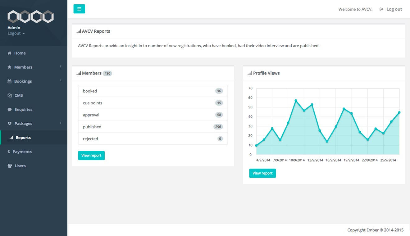 Agile application development AVCV screenshot Bristol