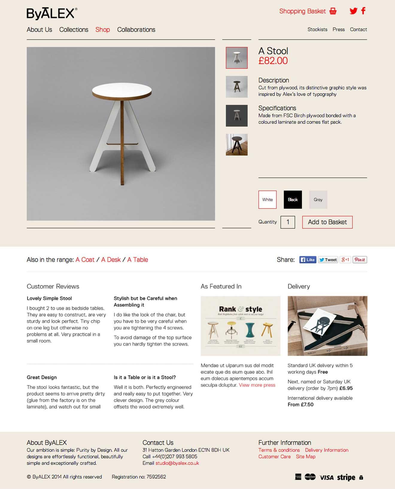 furniture expressionengine CMS ByALEX screenshot
