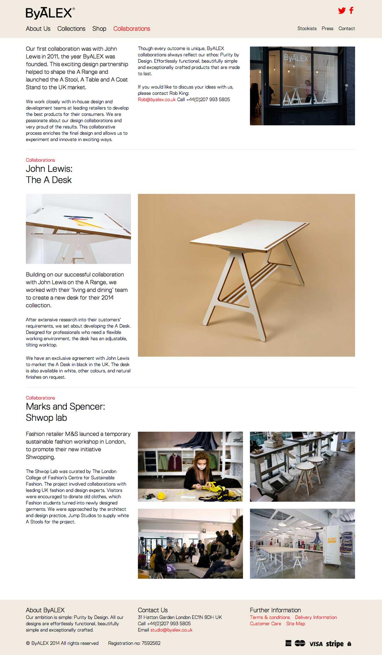 online shop development ByALEX furniture screenshot