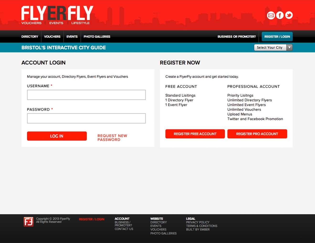 Flyerfly directory custom Drupal CMS screenshot