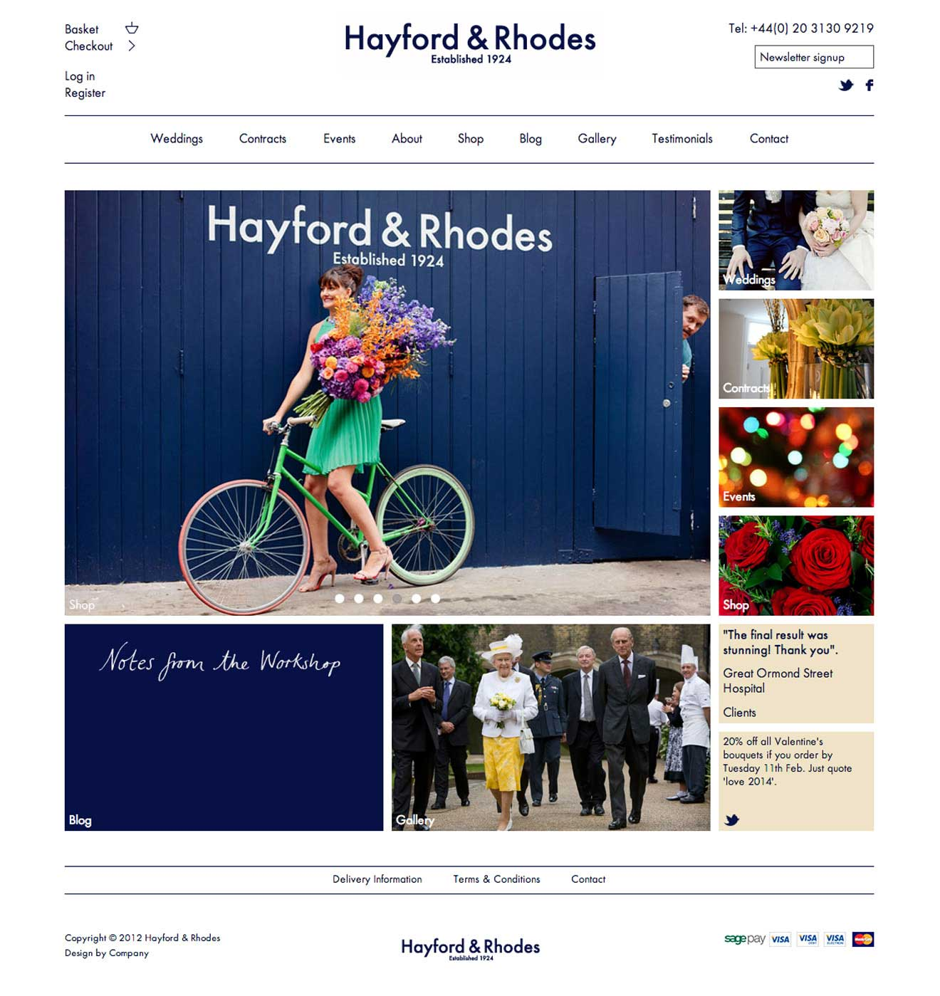 Hayford & Rhodes london web development screenshot