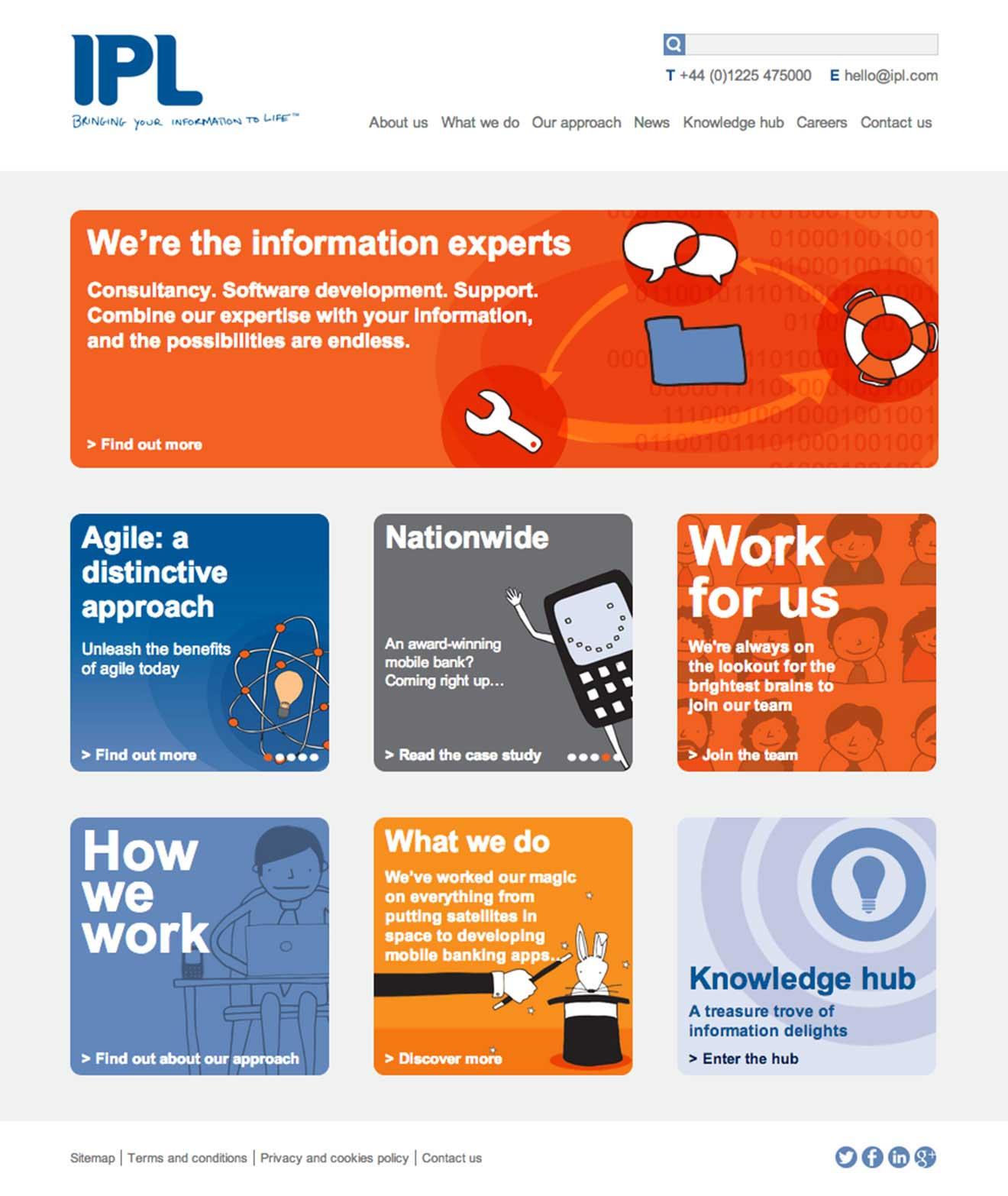 IPL Bath web design screenshot