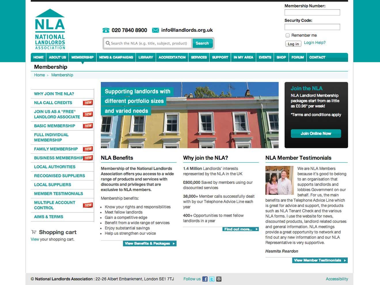 NLA website web consultation Bristol Screenshot