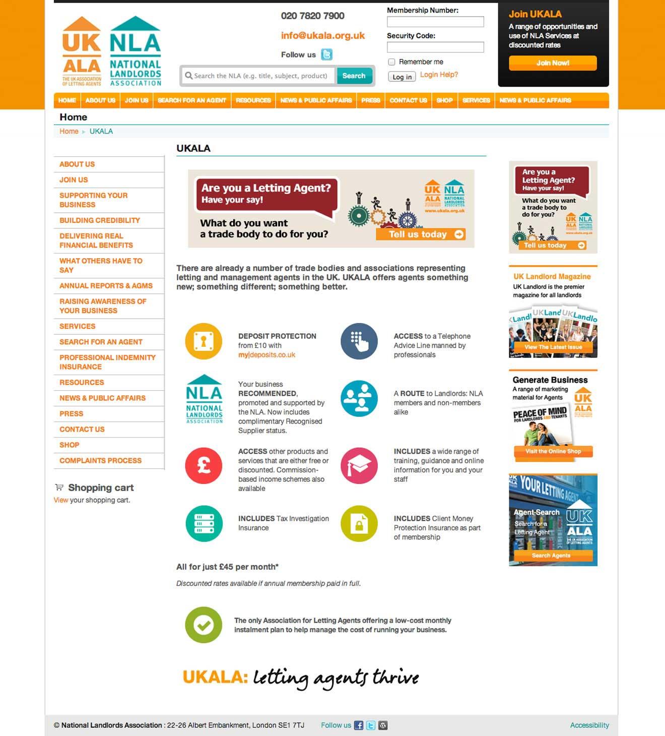 NLA website design Bristol Screenshot