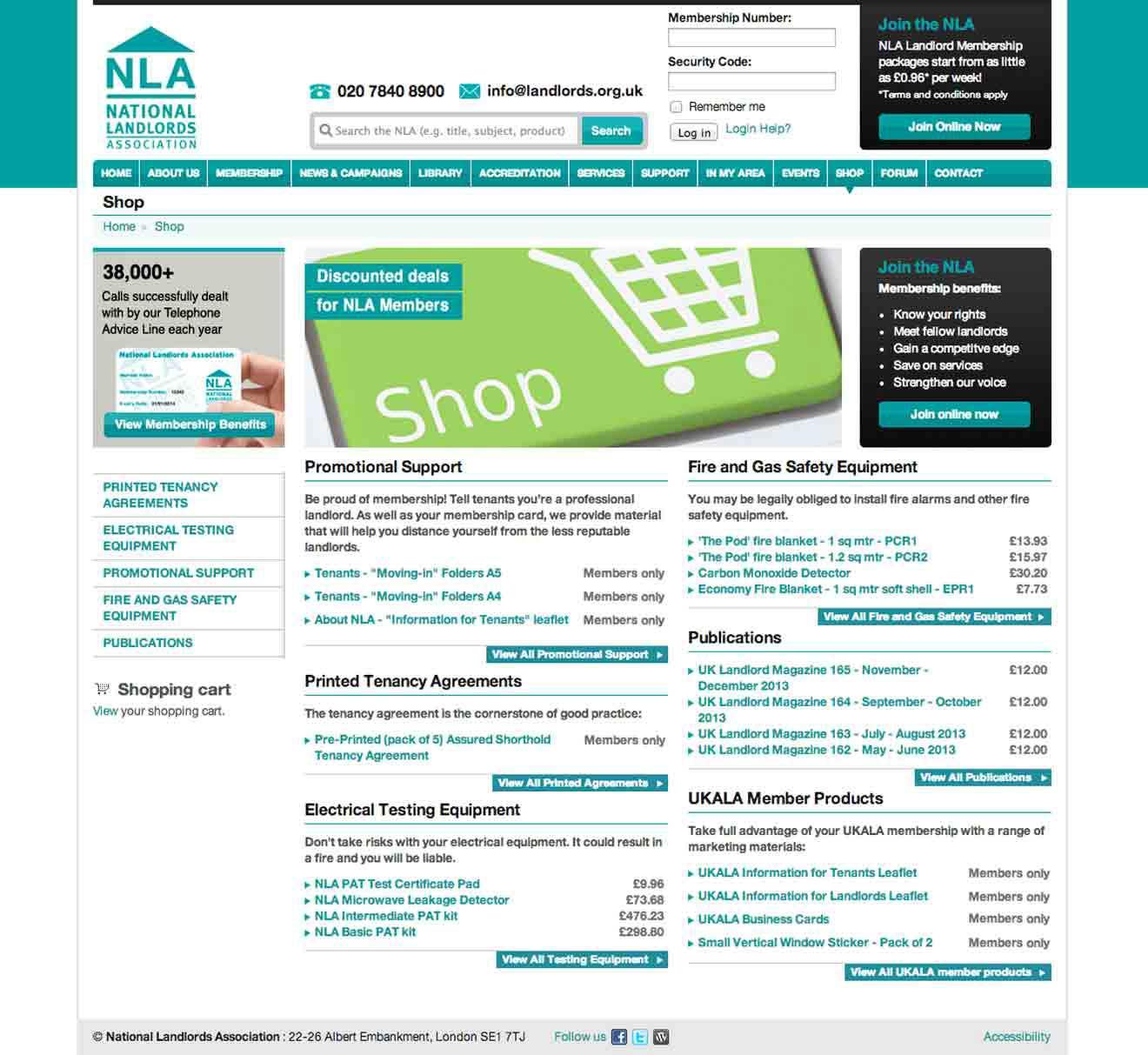 NLA website Drupal framework development Bristol Screenshot