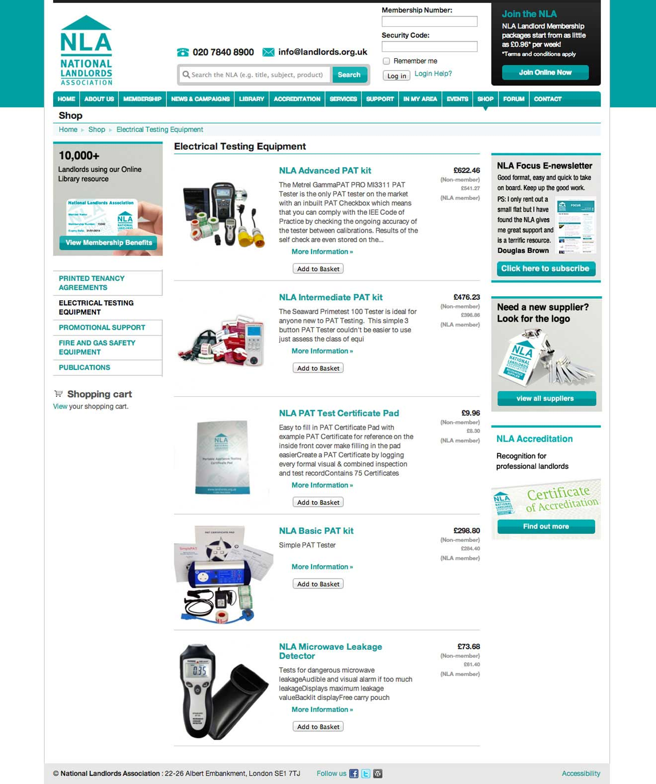 NLA website user experience Bristol Screenshot