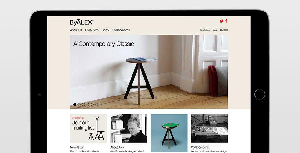 ByALEX furniture e-commerce website development Bristol thumbnail