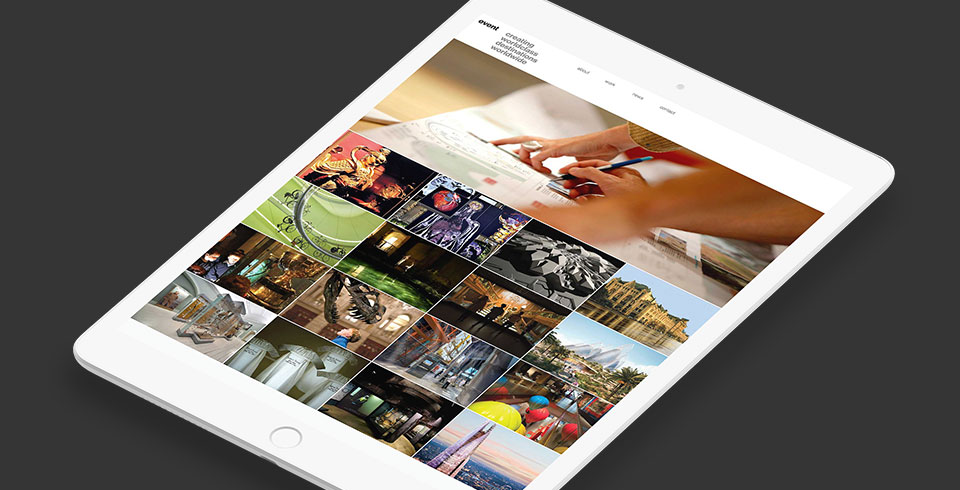 Event Communications agency portfolio web development