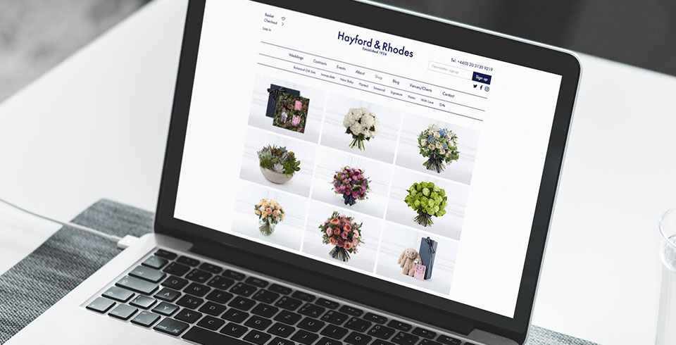Hayford & Rhodes ecommerce web design and development thumbnail