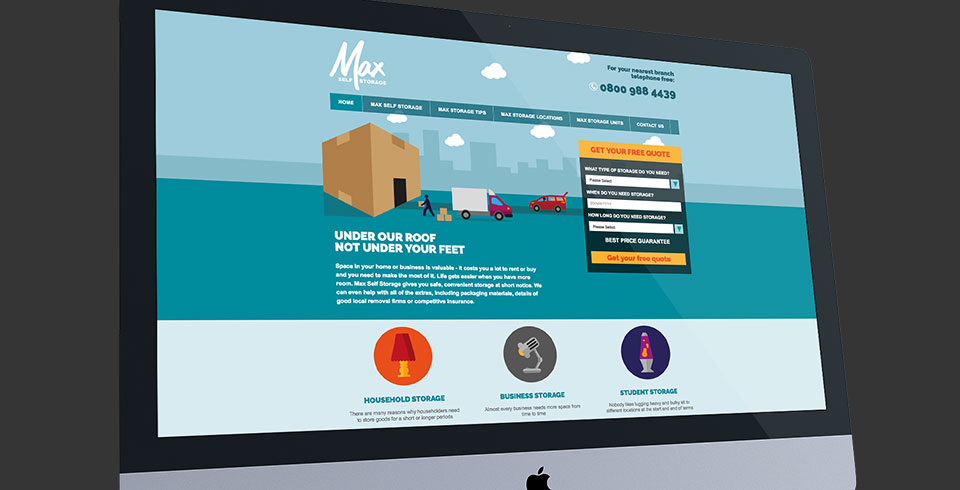 Max Self Storage Bristol web development thumbnail