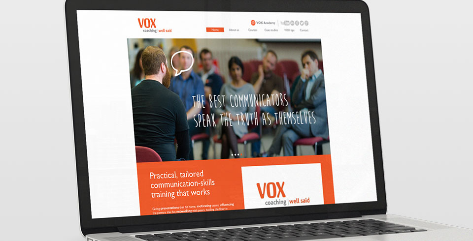 Work thumb Vox Coaching branding and promotional website